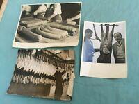 FOTO PUBBLICITARIE IN B/N ANNI '50 DI LAVORAZIONE SALUMI E TACCHINI LONDON 1939