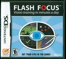 Flash Focus Vision Training in Minutes a Day Nintendo DS Video Game New & Sealed