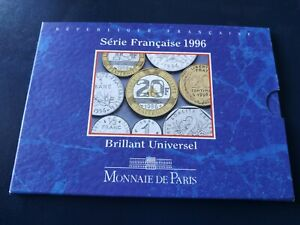 Coffret BU 1996 - 10 monnaies de la 1 centime a 20 francs