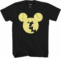 Disney Mickey Mouse Moon Silhouette Adult Tee Graphic T-Shirt for Men Tshirt