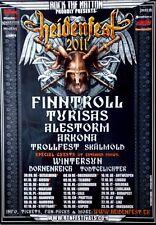 HEIDENFEST - 2011 - Tourplakat - Wintersun - Finntroll - Turisas - Alestorm - Po