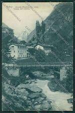 Aosta Antey Cervino PIEGHINA cartolina QQ6139