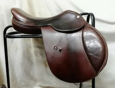 """17"""" Brown Leather Classic Saddlery Close Contact Jumping Saddle"""