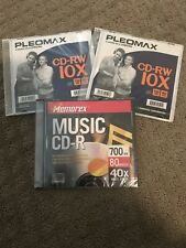 CD-RW 10X 700MB 80 Min Compact Discs Rewritable Lot of 2 + 1 CD-R 40x Pleomax