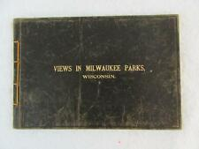 VIEWS IN MILWAUKEE PARKS, WISCONSIN 1898 Leather