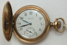 Elgin 6 Size Art Nouveau Hand Engraved 7 Jewel 1911 Pocket Watch Runs LW122