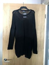 Topshop Net Mesh Black Jumper UK 10 Tall New With Tags