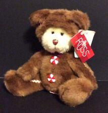 Russ Berrie COOKIE Plush Gingerbread Man Bear W/Tags