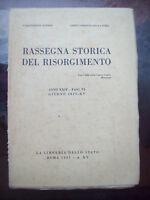 1937 RASSEGNA STORICA DEL RISORGIMENTO RIVIERA DI SALO' PUGLIA GIUS. MACHERIONE