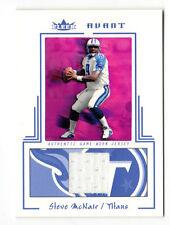 Steve McNair NFL 2003 FLEER Avant materiali BLU JERSEY (TITANI, CORVI) #49/250