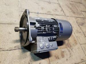 NORD SK 90L/4 CUS BRE20 HL, 2.00 HP Right-Angle Motor 230/460V, 1660 RPM NEMA