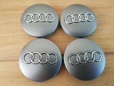 4pcs 60mm SILVER ALLOY WHEEL CENTRE HUB CAPS Fits AUDI A3 A4 A6 Q7 S6 S4