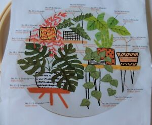 New Embroidery KIT of foliage plants - with hoop.