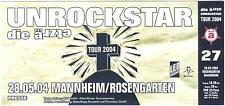 Die Ärzte - Unrockstar - Altes Konzert-Ticket Mannheim ä 27 #0114 - 28.05.2004