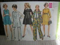 Vintage 60's ~ #8553 Simplicity Maternity Size 12 ~ Tunic Dress & Pant Pattern