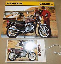 1980 Honda CX500 models Dealer's Sales Brochure & Price Card_ORIG!