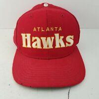 Vintage Starter NBA Atlanta Hawks Wool Snapback Hat Cap