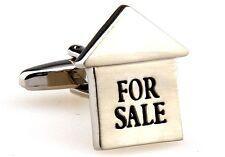 Realtor For Sale Sign Cufflinks Wedding Fancy Gift Box Free Ship USA