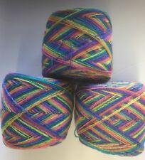 Lace yarn Crystal Color 976 Acrylic/Rayon. 900 yards per ball. 1 lot of 3 balls.