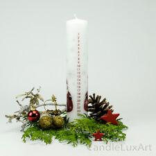 "Leuchterkerze /""Adventskalender/"" rot 29 x 2,2cm H x Ø NEU Dekokerze Wachseker"