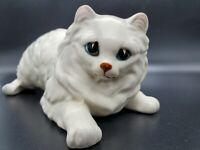 "Vintage Norcrest Cat Figurine Climbing Hanging Ceramic 9"" Playful Kitty Persian"