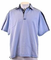 CREW CLOTHING Mens Polo Shirt Large Blue Cotton  IR01