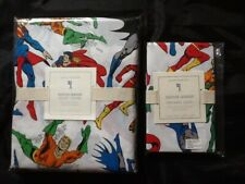 POTTERY BARN KIDS JUSTICE LEAGUE DUVET & 1 SHAM TWIN MULTI NEW