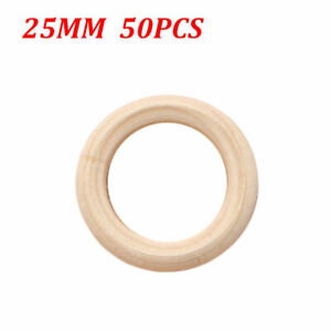 Natural Wood Circle Ring by Craft County for DIY Crafts, Napkin Rings & More US