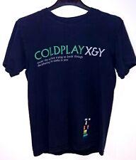 COLDPLAY sotto la superficie X&Y testi Nero T Shirt piccola etichetta Gildan
