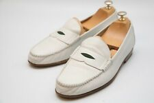 Rare Vintage Gucci Men's White Leather Loafer Shoes UK 10