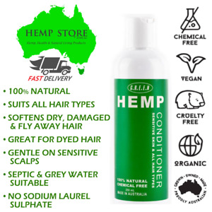 GREEN Hemp Conditioner Sulfate Free Hydrating Hemp Seed Oil Hair Conditioner