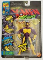 X-MEN X-FORCE KILLSPREE WITH SLASHING BLADE ARMS & MARVEL UNIVERSE TRADING CARD