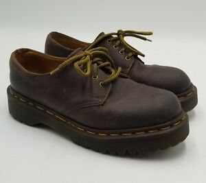 DR  MARTENS 1561 Z  Brown 4 Eye Oxford Shoes Mens Size 5 UK US 6 Made in England