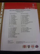 30/07/2011 Color teamsheet: en Arsenal: Emiratos Taza-New York Red Bulls V par