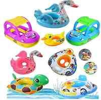 BabyKids ToddlerSwimming Pool SwimSeatFloat Boat Ring FUN Cartoon Designs