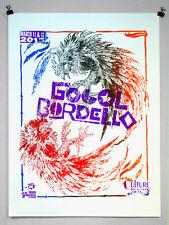 "Gogol Bordello ""Fighting Cocks"" Limited Edition Concert Silkscreen Gig Poster"