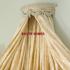 NEW REGAL LUXURY Girls Victorian Floral bed Crown CUSTOM FINISH Canopy