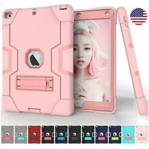Rugged Armor Shockproof Hard Case Stand Cover For iPad 5th 6th Gen 2017 2018 9.7