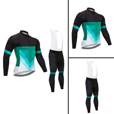 Mens Cycling Pro Long Jersey Bib Pants Set Bike Shirt Tights Kits Racer Clothing