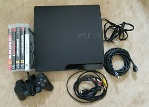 Sony PlayStation 3 Slim 160GB CECH-3001A Console w/ Cables Controller & Games