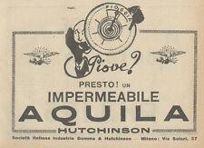 Z1680 Impermeabile AQUILA Hutchinson - Pubblicità d'epoca - 1930 Old advertising