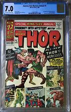 Thor Journey Into Mystery Annual #1 CGC 7.0 1st app Hercules Zeus Marvel 1965