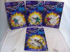Stellar Force SET OF 4 Mini Figures by CHAP MEI Space Robot Bootleg KO 1990's