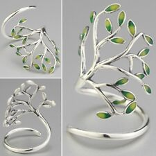 Women's Adjustable Band Personality Tree of Life Leaf Branch Forest Wrap Ring