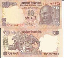 INDIA 10 RUPIAS 2016 LOTE DE 5 BILLETES