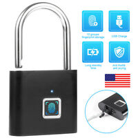 Anti-theft Security Padlock USB Rechargeable Smart Fingerprint Door Lock Keyless