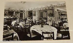 Carte Postale : Salle à manger de L'HOTEL de la LOIRE Propriétaires BARRAU