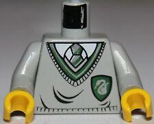 Lego Harry Potter Tom Riddle Light Gray Minifig Torso Green Slytherin Shield NEW
