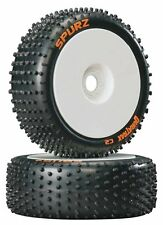 Duratrax 1/8 Spurz C2 Buggy Tire & Wheel Fits Ofna 1/8 Buggy Associated 1/8 RC8