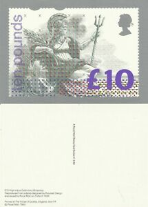 2 MARCH 1993 £10 DEFINITIVE VALUE PHQ CARD Number D1 MINT UNUSED